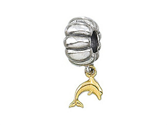 Zable 14k Dolphin Dangle Bead / Charm