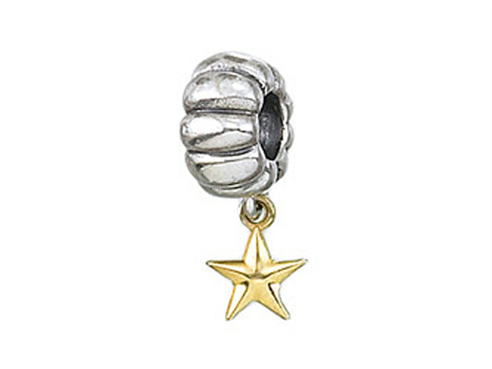 Zable 14k Star Dangle Bead / Charm