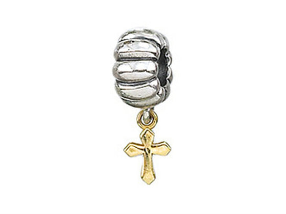 Zable 14k Cross Dangle Bead / Charm