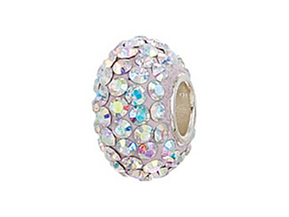 Zable Pave Swarovski Crystal Bead Irridescent Bead / Charm