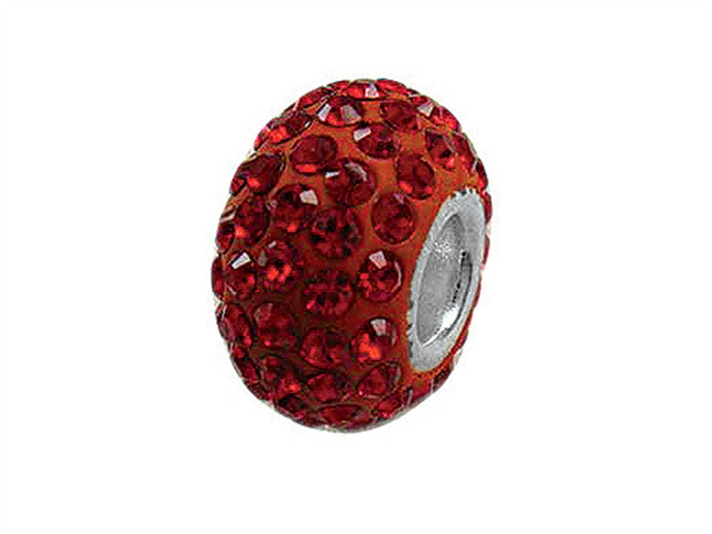 Zable Pave Swarovski Crystal Bead January Bead / Charm