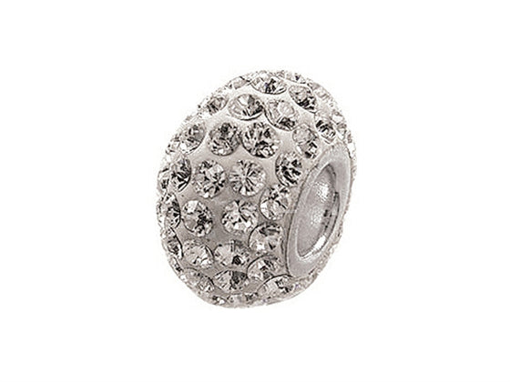 Zable Pave Swarovski Crystal Bead April Bead / Charm