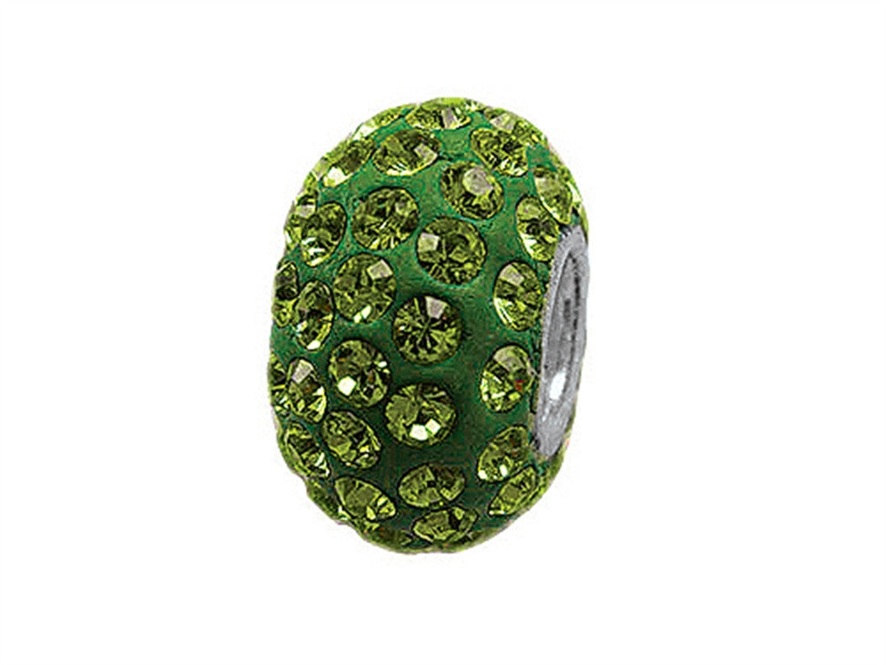 Zable Pave Swarovski Crystal Bead August Bead / Charm