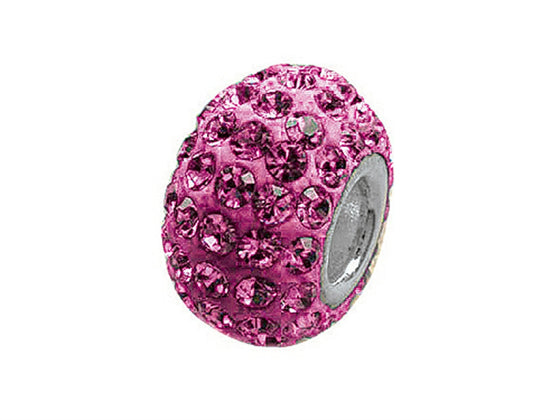 Zable Pave Swarovski Crystal Bead October Bead / Charm