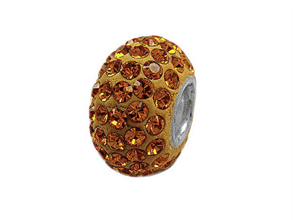 Zable Pave Swarovski Crystal Bead November Bead / Charm