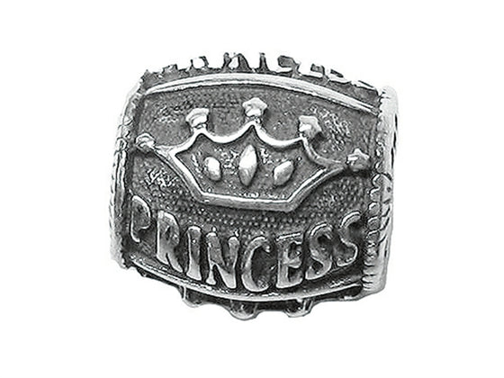 "Zable Sterling Silver ""Princess"" Bead / Charm"