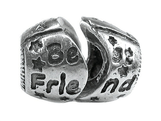 "Zable Sterling Silver ""Best Friend"", Break Apart Bead / Charm"