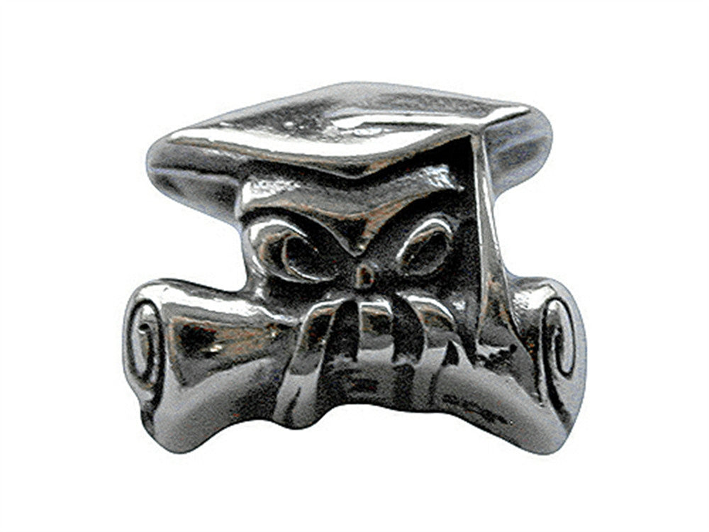 Zable Grad Cap and Diploma Pandora Compatible Bead / Charm