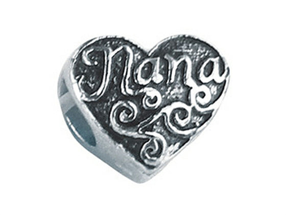 "Zable Sterling Silver ""Nana"" Bead / Charm"