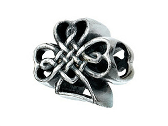 Zable Celtic Knot Shamrock Bead / Charm