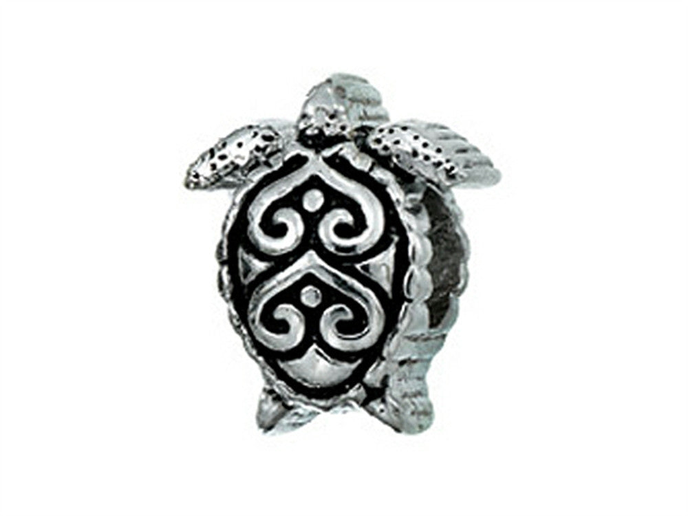 Zable Filigree Turtle Pandora Compatible Bead / Charm