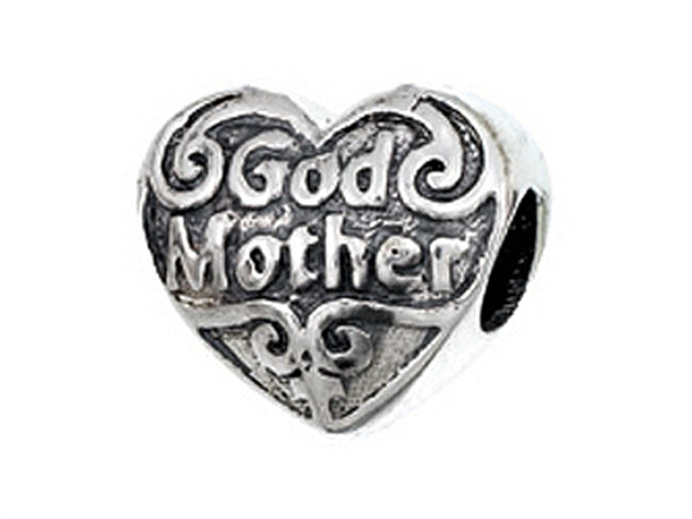 Zable Sterling Silver God Mother Bead / Charm