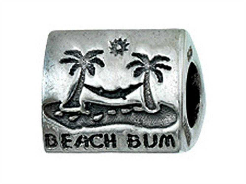 Zable Sterling Silver Beach Bum Bead / Charm