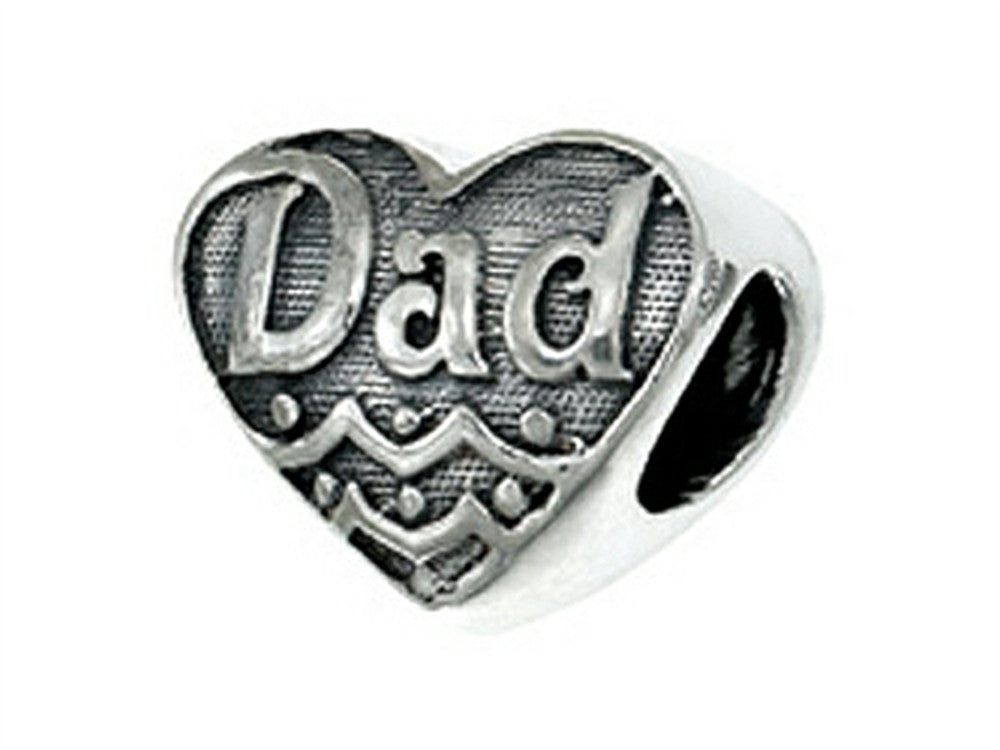 Zable Sterling Silver Dad Bead / Charm