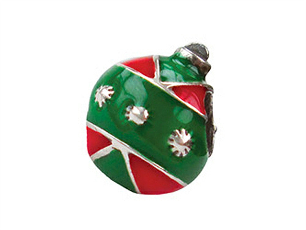 Zable Sterling Silver Ornament with Enamel Bead / Charm