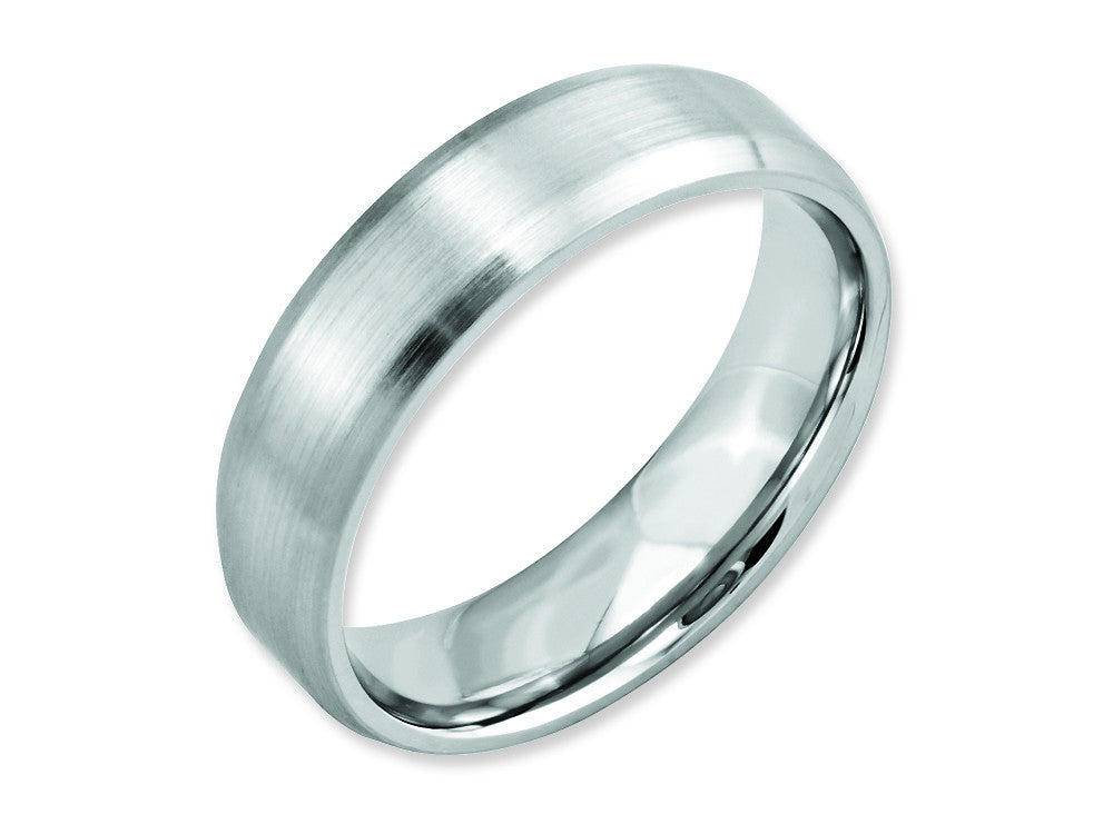 Chisel Cobalt Beveled Edge Satin 6mm Weeding Band