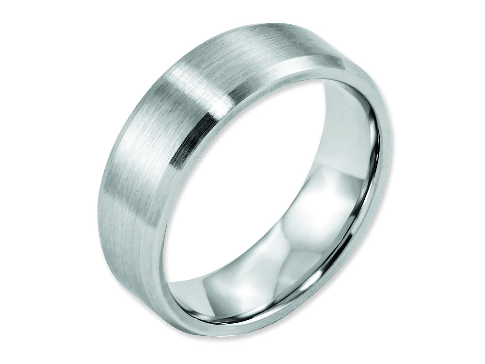 Chisel Cobalt Beveled Edge Satin 7mm Weeding Band