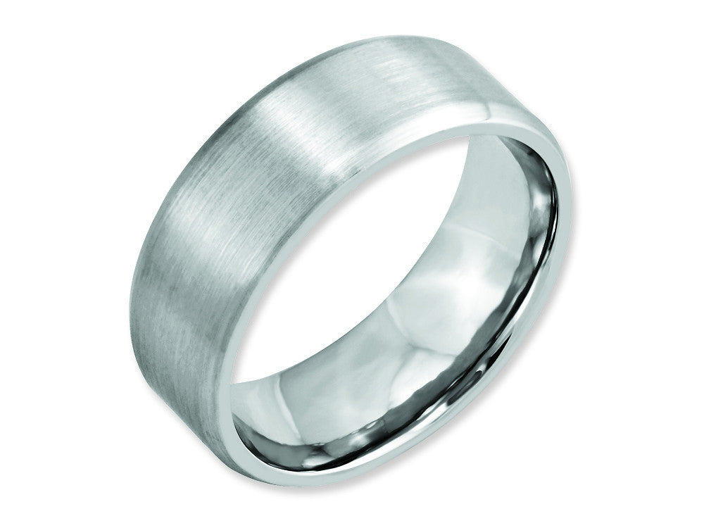 Chisel Cobalt Beveled Edge Satin 8mm Weeding Band