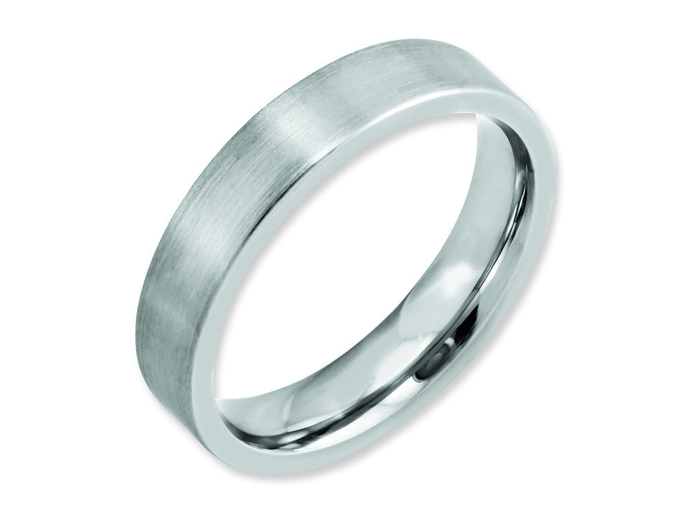 Chisel Cobalt Flat Satin 5mm Weeding Band