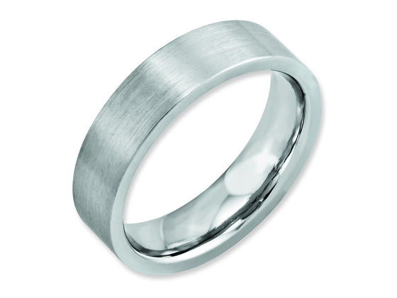 Chisel Cobalt Flat Satin 6mm Weeding Band