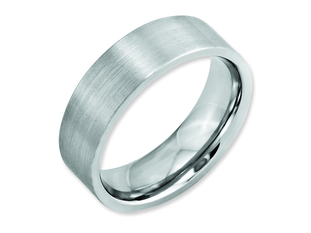 Chisel Cobalt Flat Satin 7mm Weeding Band