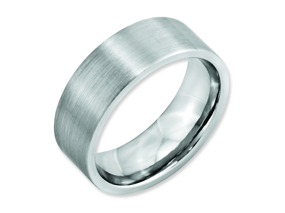 Chisel Cobalt Flat Satin 8mm Weeding Band