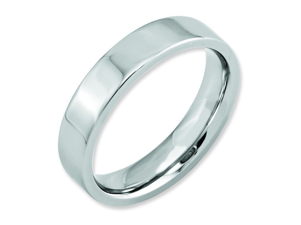Chisel Cobalt Flat Polished 5mm Weeding Band