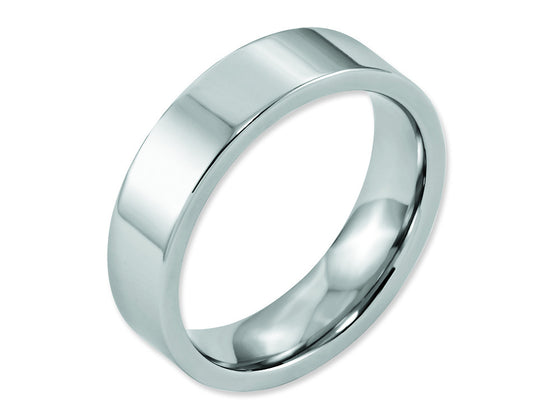Chisel Cobalt Flat Polished 6mm Weeding Band