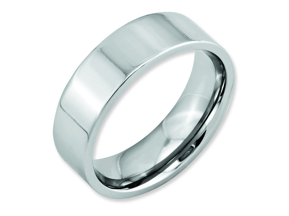 Chisel Cobalt Flat Polished 7mm Weeding Band