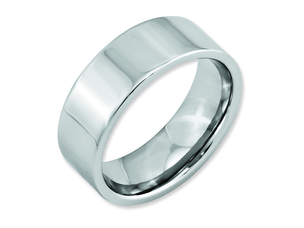 Chisel Cobalt Flat Polished 8mm Weeding Band