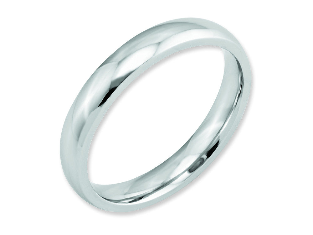 Chisel Cobalt Polished 4mm Weeding Band