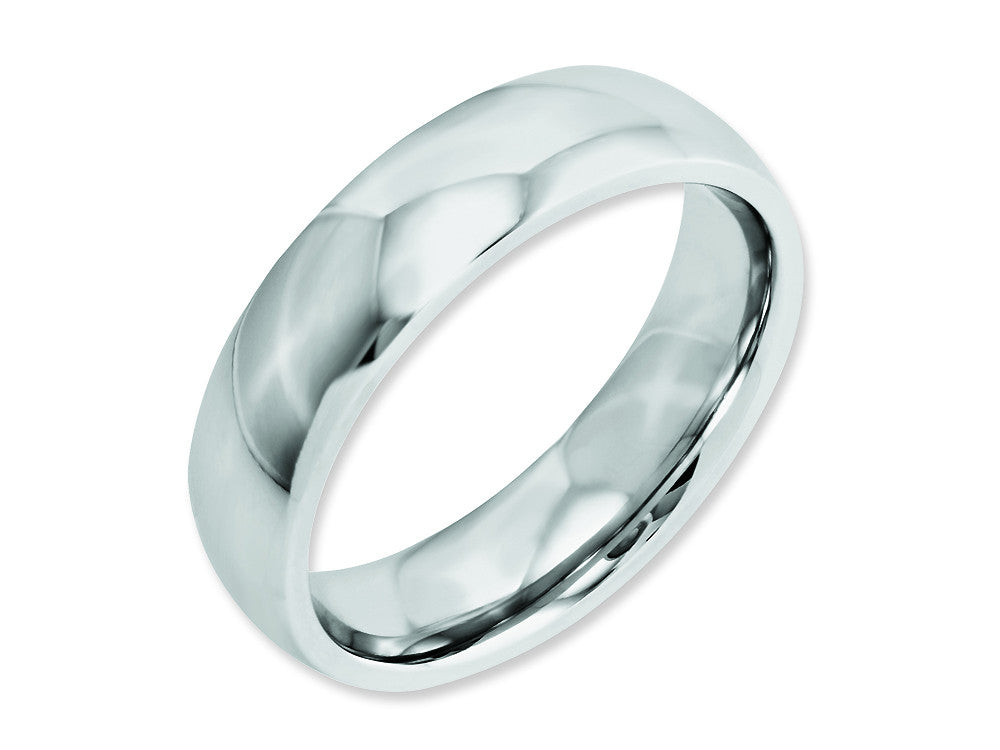 Chisel Cobalt Polished 6mm Weeding Band