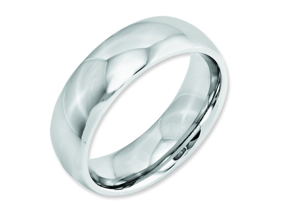Chisel Cobalt Polished 7mm Weeding Band