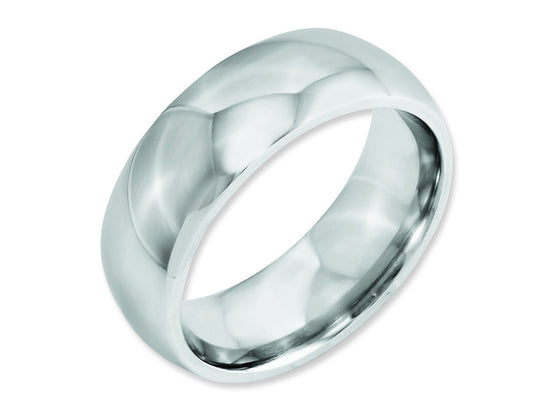 Chisel Cobalt Polished 8mm Weeding Band