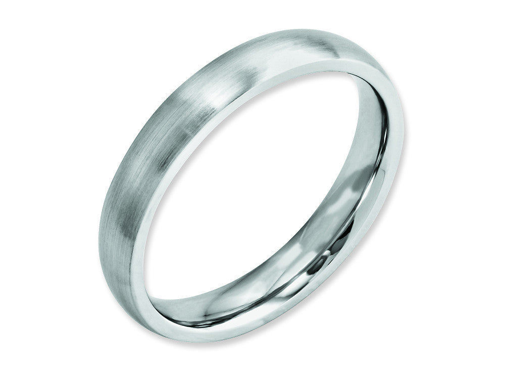 Chisel Cobalt Satin 4mm Weeding Band