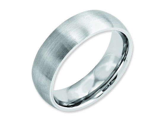 Chisel Cobalt Satin 7mm Weeding Band
