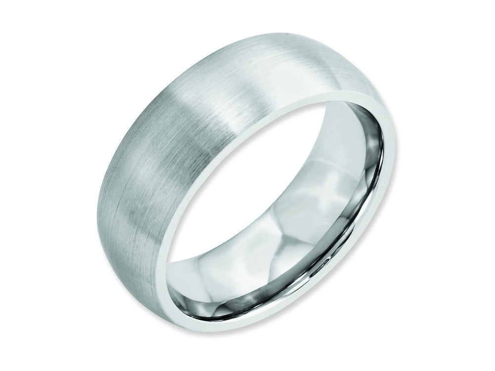 Chisel Cobalt Satin 8mm Weeding Band