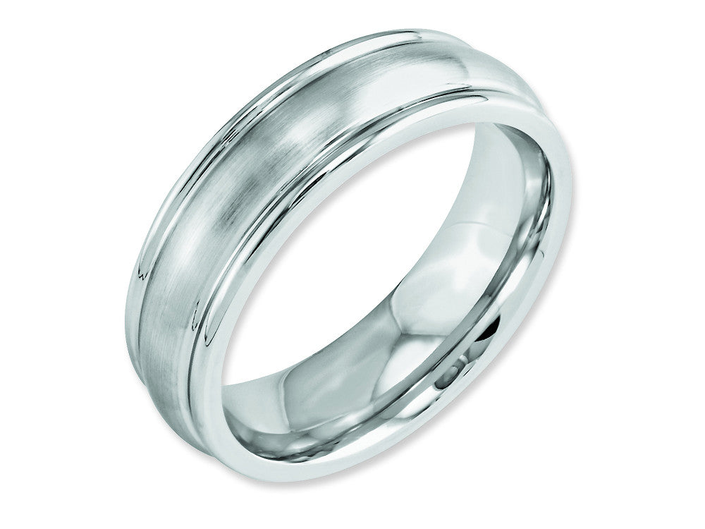 Chisel Cobalt Satin 7mm Rounded Edge Weeding Band
