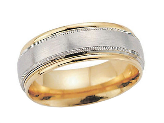 Benchmark 8mm Comfort Fit Wedding Band / Rings Band