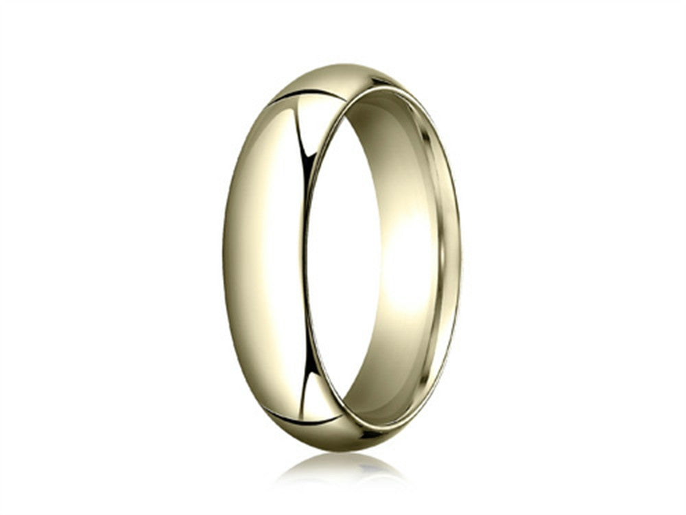 Benchmark 14k Gold 6.0mm High Dome Heavy Comfort-fit Ring