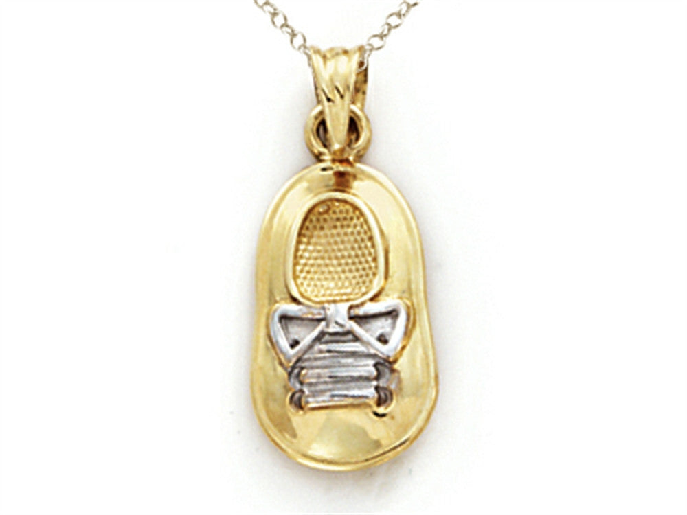 Finejewelers 14k Two Tone Gold Baby Boy Shoe Pendant Necklace - Chain Included