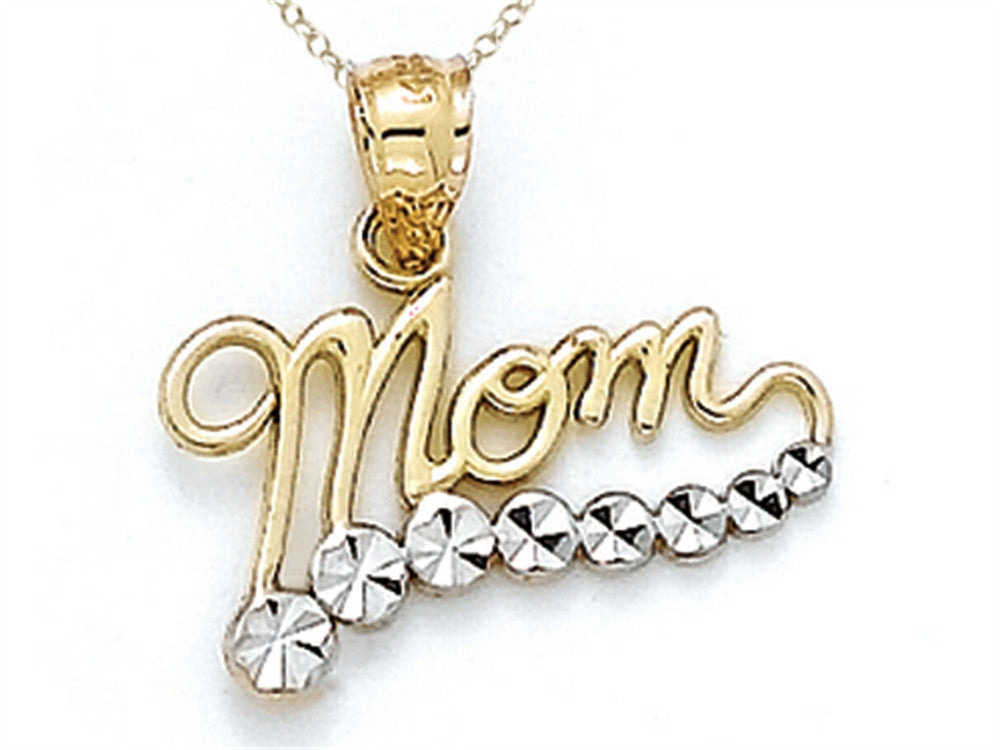 14k Yellow Gold Mom Journey Pendant Necklace - Chain Included