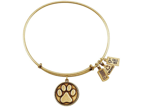 Wind And Fire Expandable Bangle Paw Print