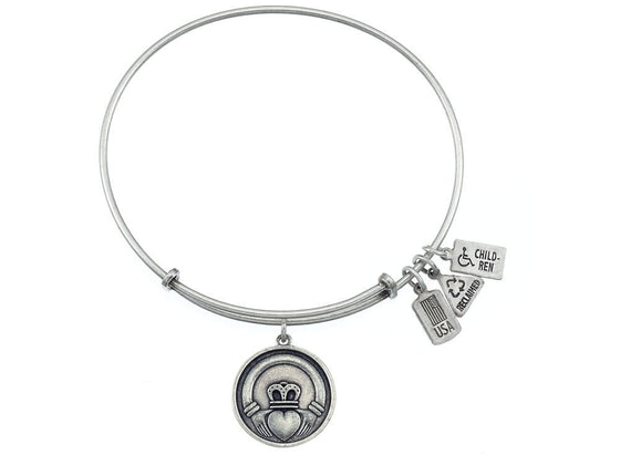 Wind And Fire Expandable Bangle Claddagh