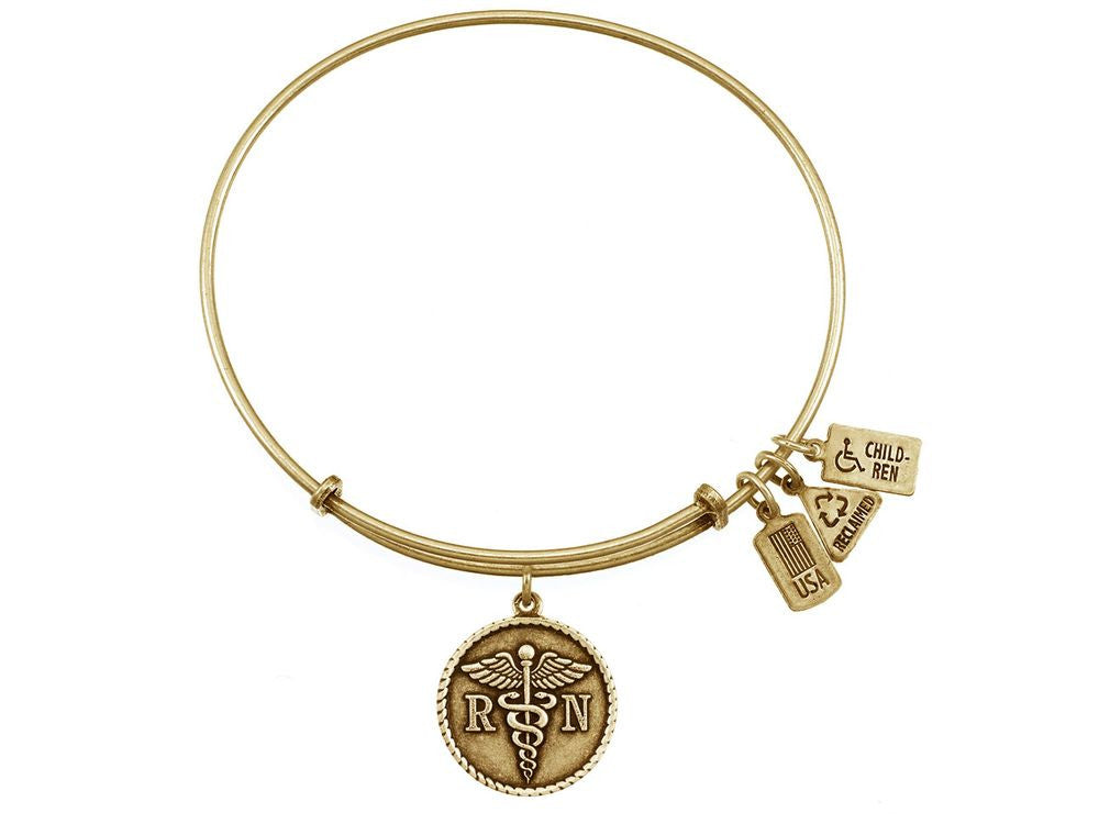 Wind And Fire Expandable Bangle Rn/caduceus