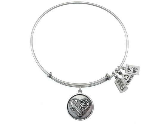 Wind And Fire Expandable Bangle Love 'script'