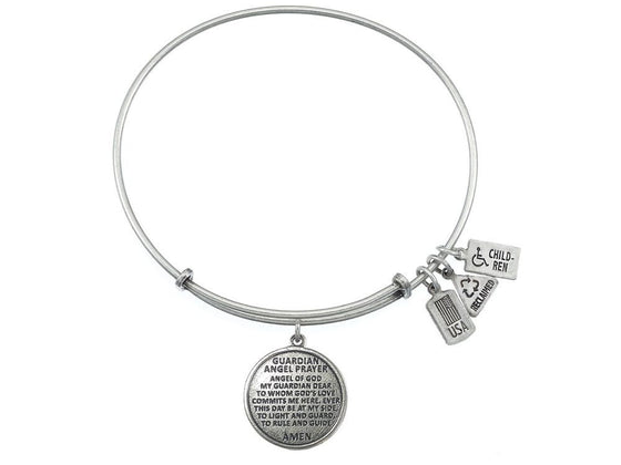 Wind And Fire Expandable Bangle Guardian Angel Prayer