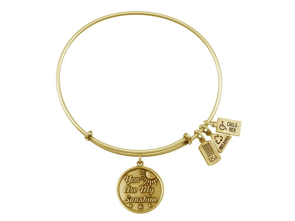 Wind And Fire Expandable Bangle You Are My Sunshine