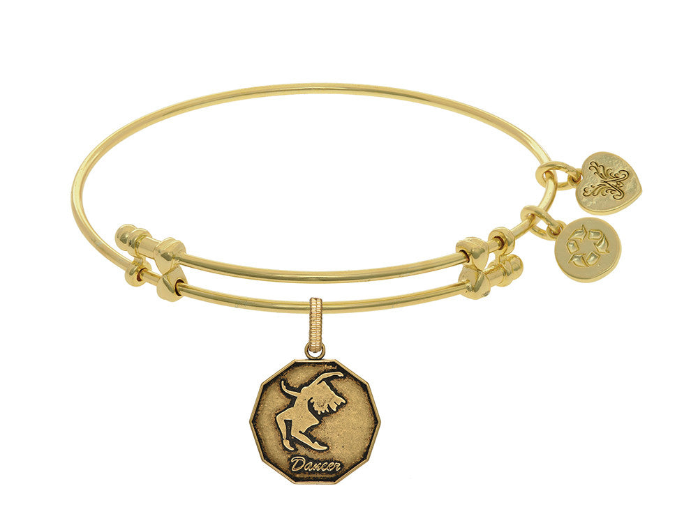 Brass With Yellow Finish Dancer Charm For Angelica Collection Bangle