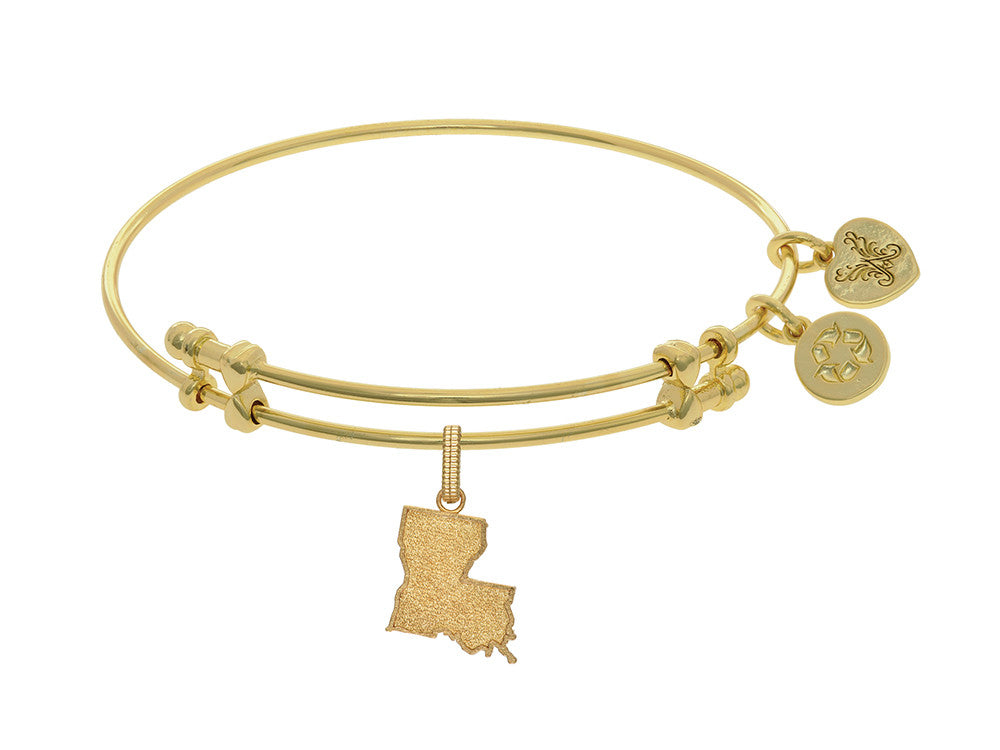 Brass With Yellow Finish Louisiana Charm For Angelica Collection Bangle